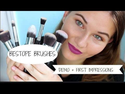 AMAZON BESTOPE MAKEUP BRUSHES | FIRST IMPRESSIONS + DEMO