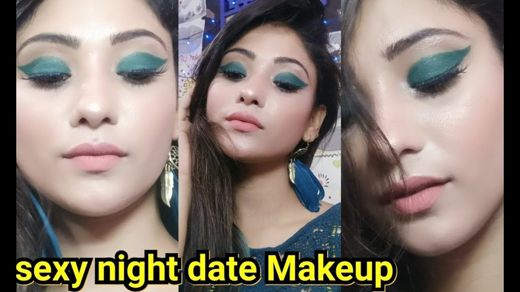 Night date /clubbing makeup || sexy teal green eye makeup || shy styles