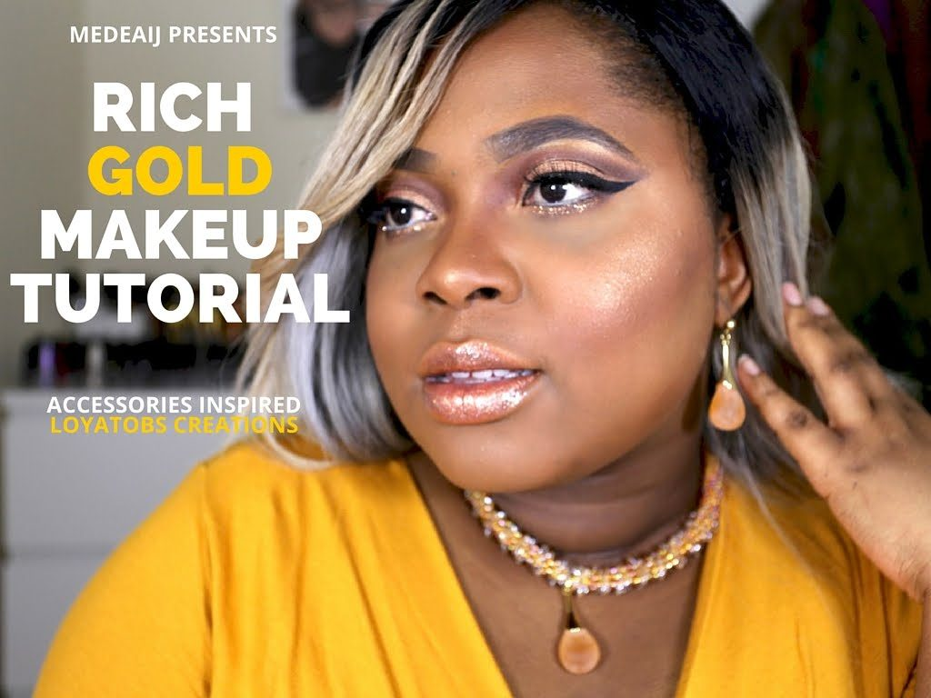 Gold Cut crease Makeup Tutorial| Accessories inspired| Urban decay VICE 4| Medeaij
