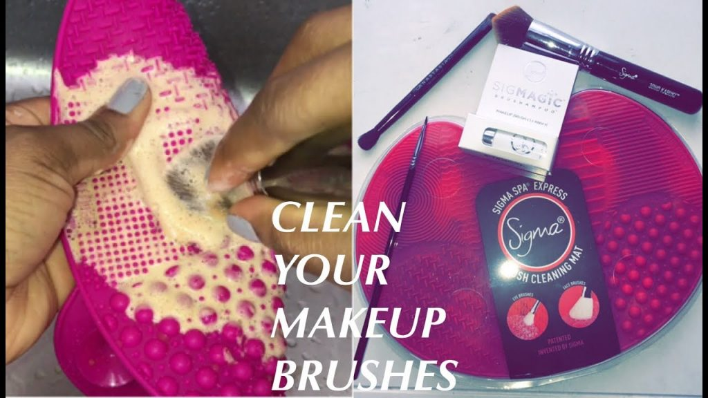 How To Clean Makeup Brushes FT Sigma Brush Cleaning Mat