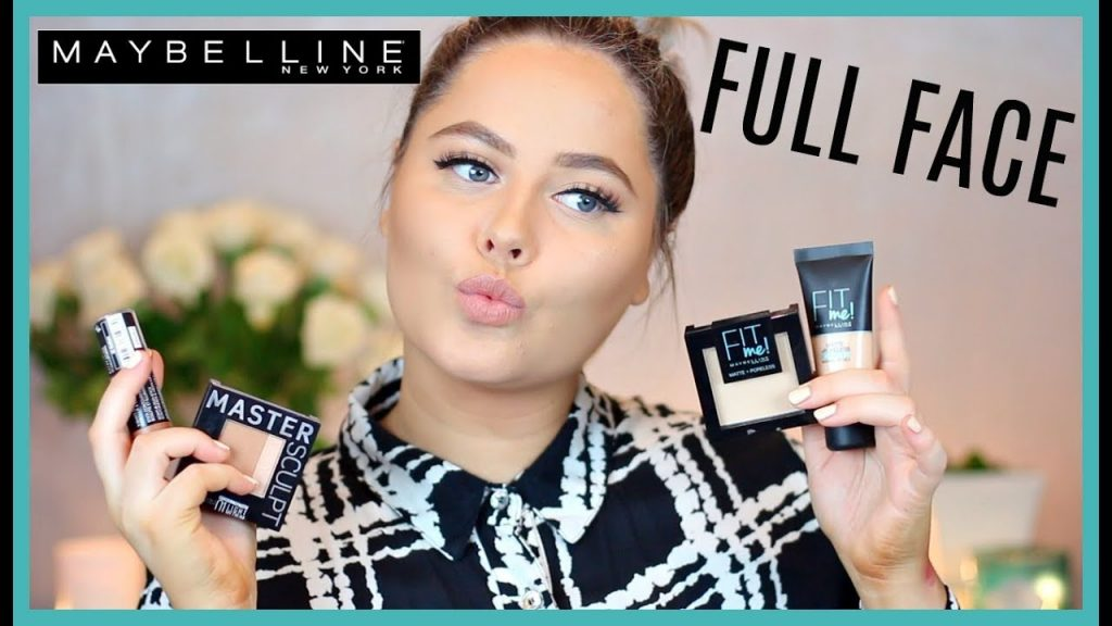 FULL FACE USING ONLY MAYBELLINE MAKEUP! // Sanne Skar