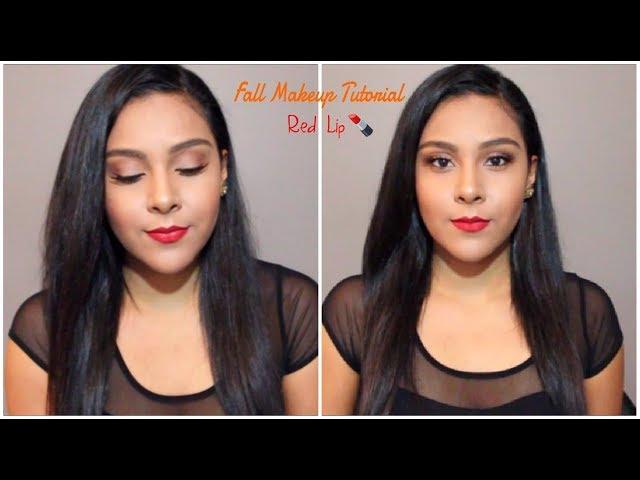 Fall Red Lip Makeup Tutorial | 2017
