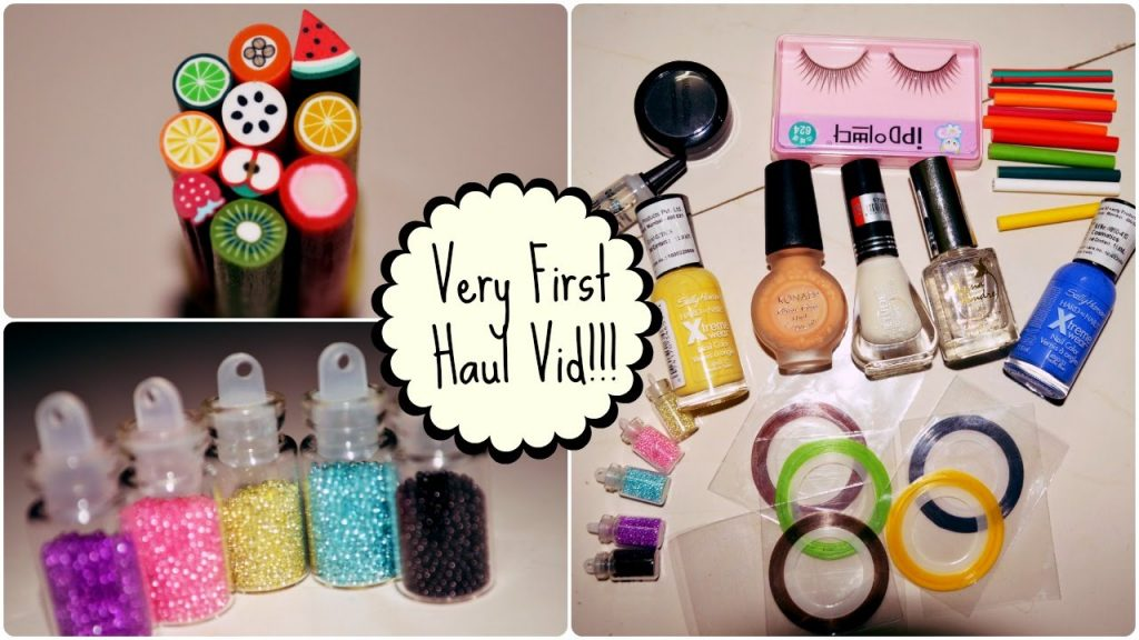 Very First Haul Video – Nail Art and MakeUp Accessories