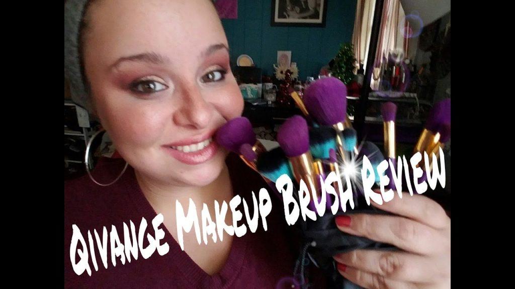Purple Makeup Brushes: Qivange Brush Review