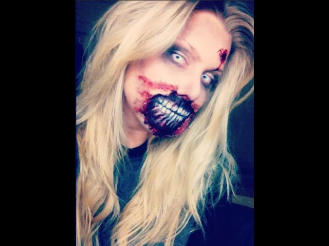 The walking dead zombie makeup tutorial | BeeisforBeeauty
