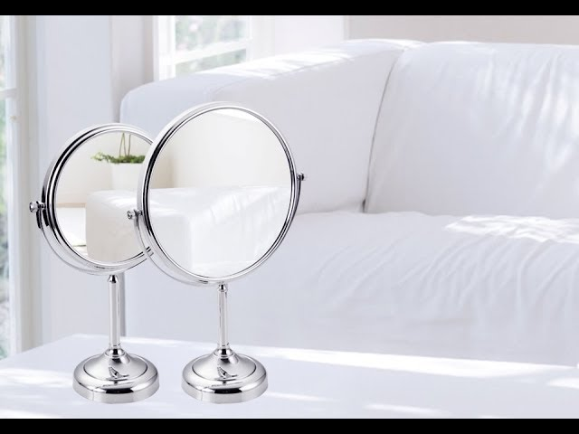 New Makeup Mirror – Best Makeup Accessories – 180 Rotating Magnifier Professional Vanity Mirror