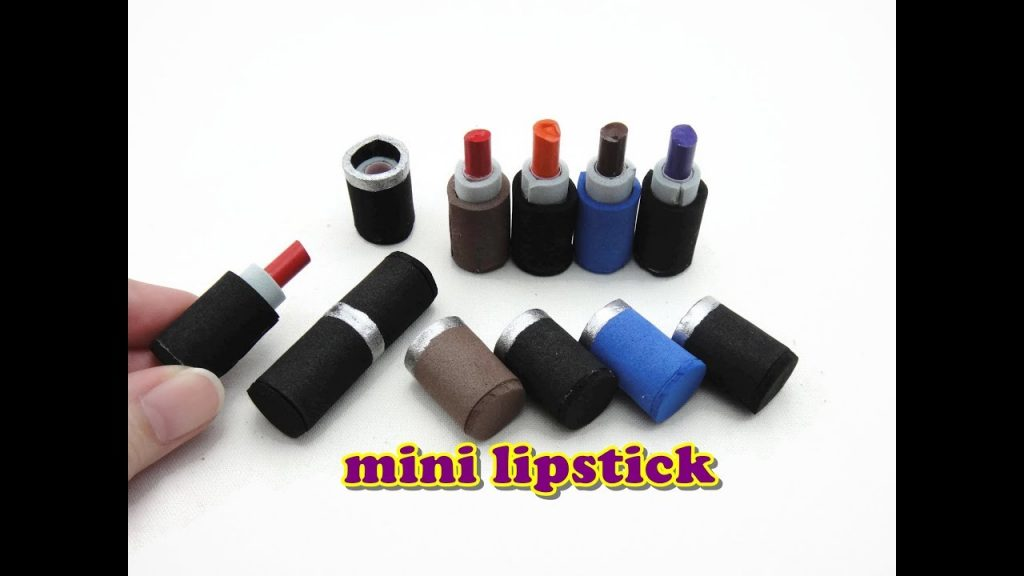 DIY Doll Miniature Accessories – Really Works – Makeup Lipstick