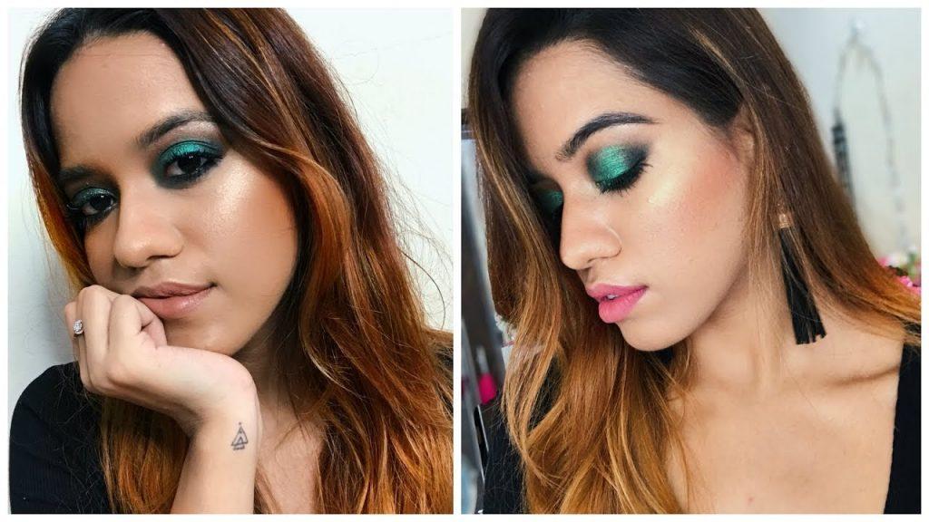 Emerald Green Smokey Eye Makeup Tutorial | Debasree Banerjee