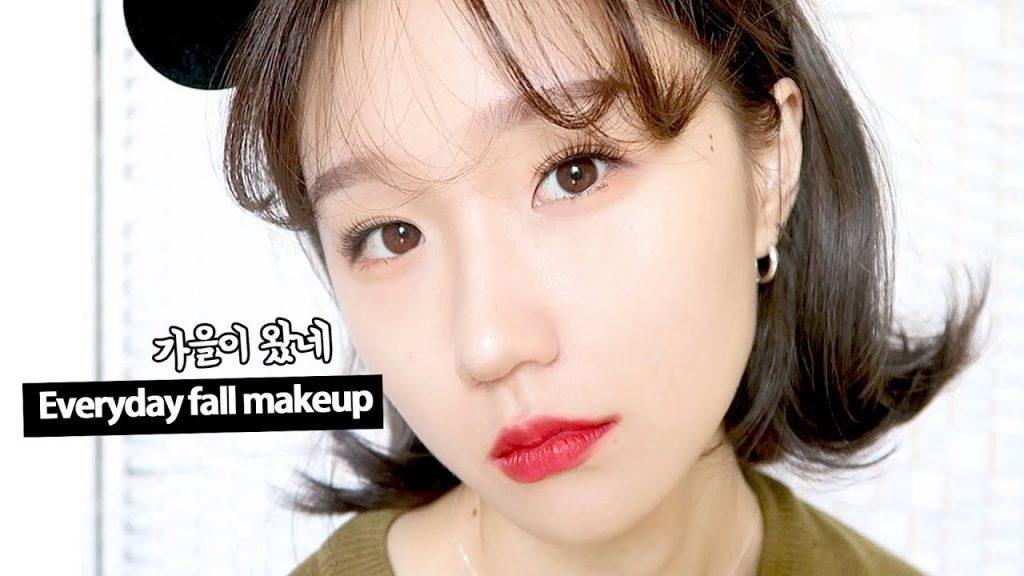 뽀얗고 빨간 가을메이크업 🍒🌹Autumn makeup // Red Lip
