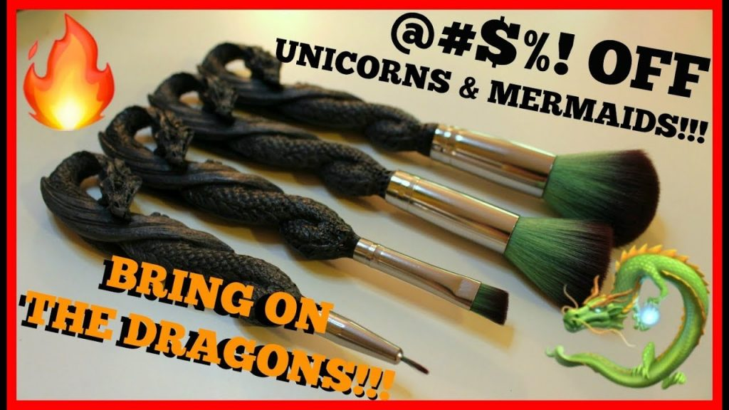 🐉 DRAGON MAKEUP BRUSHES?!?!   Brush Set Review 🐉