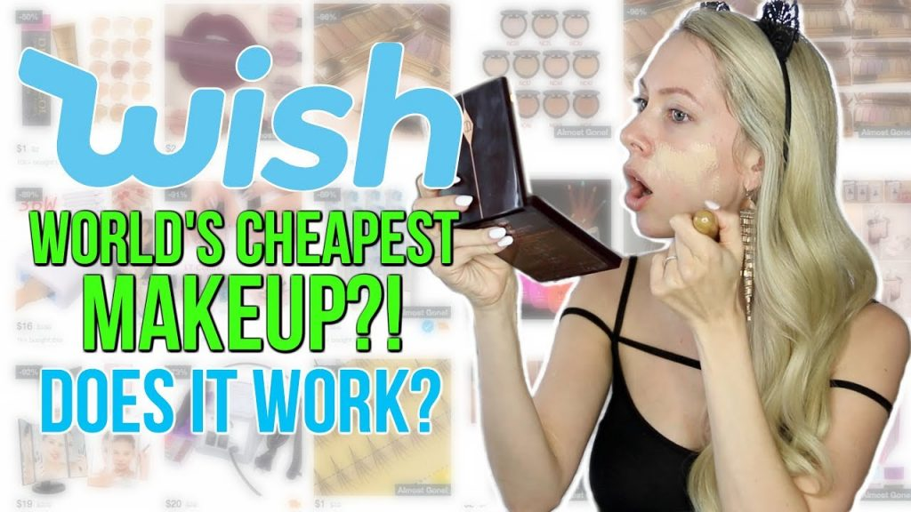 WORLD'S CHEAPEST MAKEUP?! Full Face Using Makeup UNDER $1 from Wish!