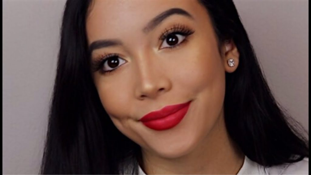 RED LIP FALL MAKEUP TUTORIAL + FIRST IMPRESSIONS || Monique Lynn || GET READY WITH ME, Fenty Beauty