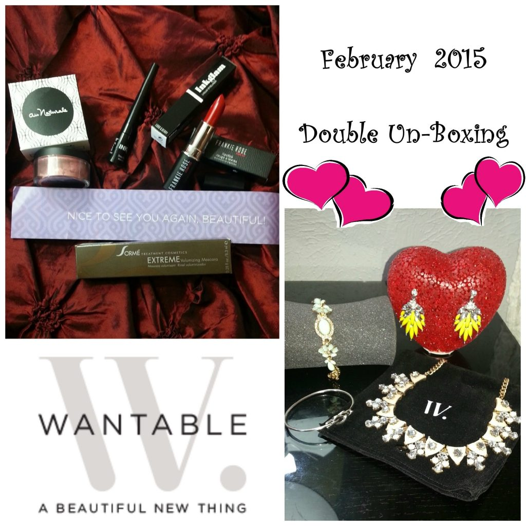 Wantable Double Un-boxing: February Makeup & Accessories