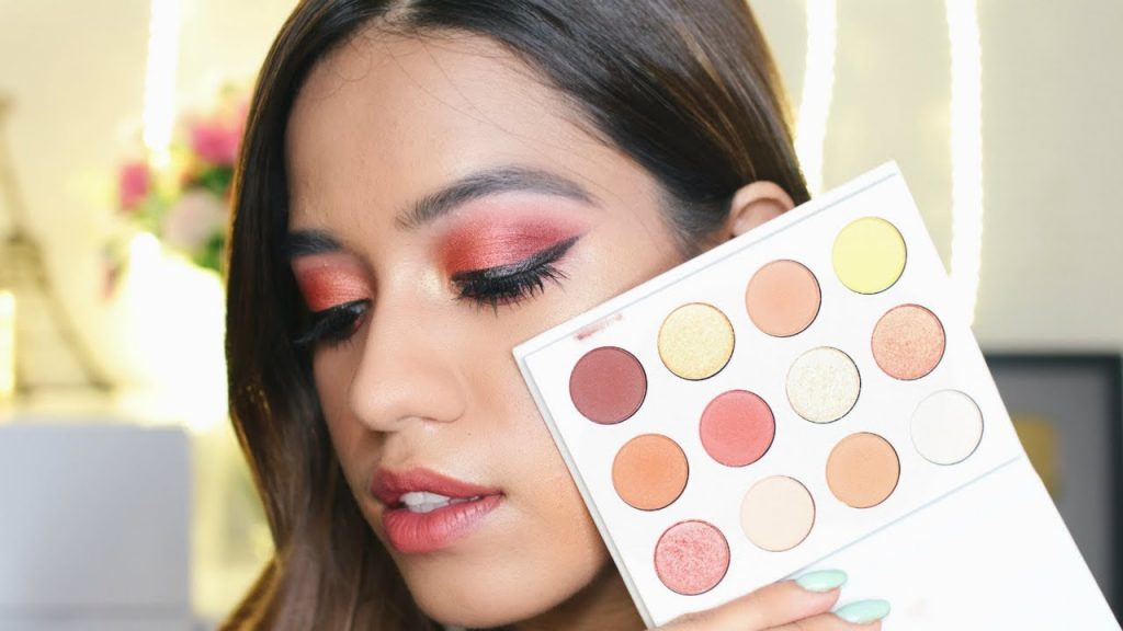 Cranberry Eye Makeup Tutorial With Colourpop Yes Please Palette | Debasree Banerjee