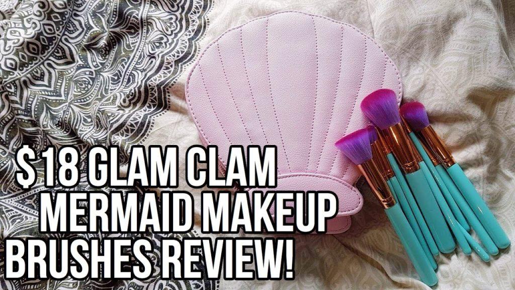 $18 GLAM CLAM / CHEAP MERMAID MAKEUP BRUSHES REVIEW ♡