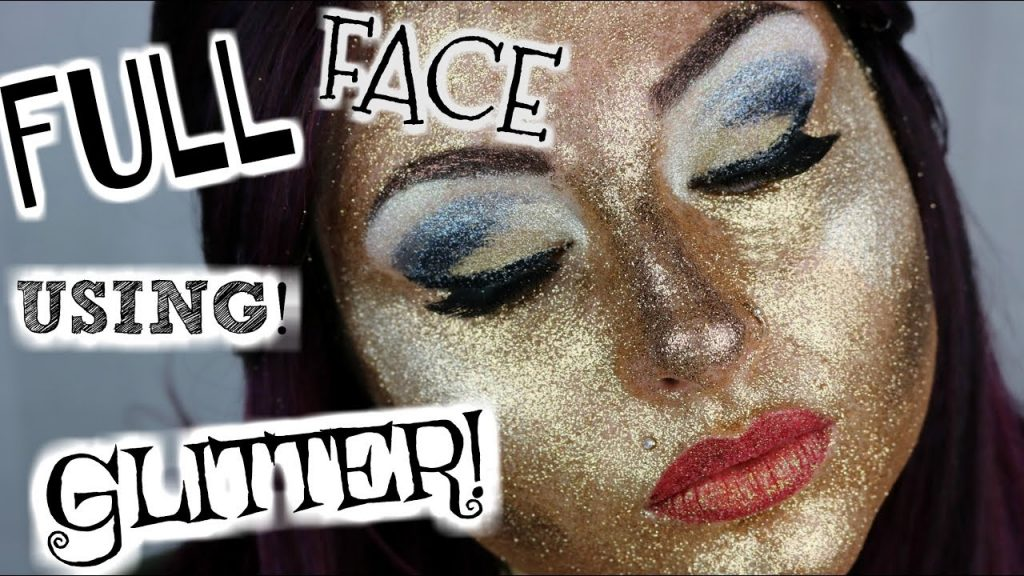 GLITTER FACE Full Face Of Makeup Using Only Glitter! I ACTUALLY REALLY TRIED | BeautyByJosiek