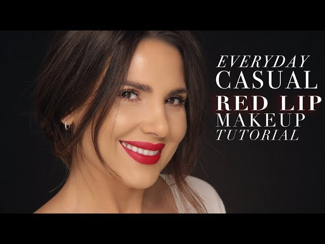 EVERYDAY CASUAL RED LIP MAKEUP TUTORIAL |  ALI ANDREEA