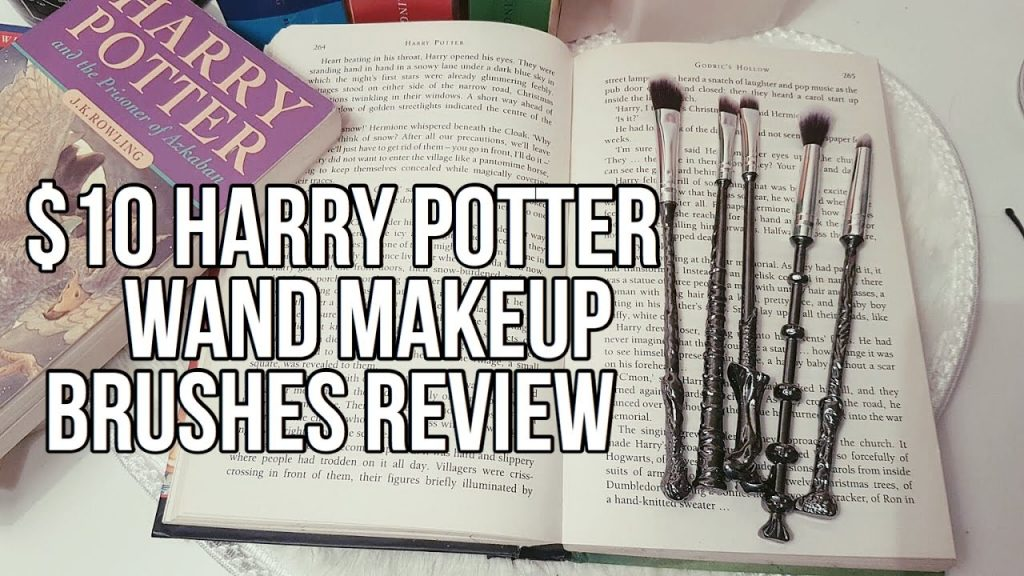 $10 HARRY POTTER WAND MAKEUP BRUSHES FROM EBAY/ALIEXPRESS ♡