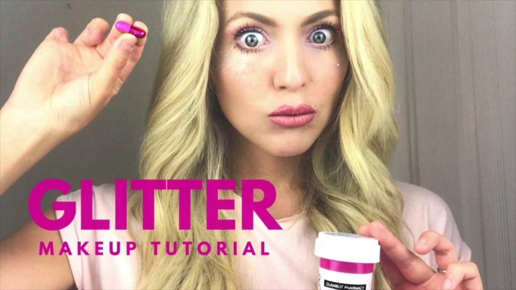 Pink Glitter Eye – MAKEUP TUTORIAL! Glambot + J Cat
