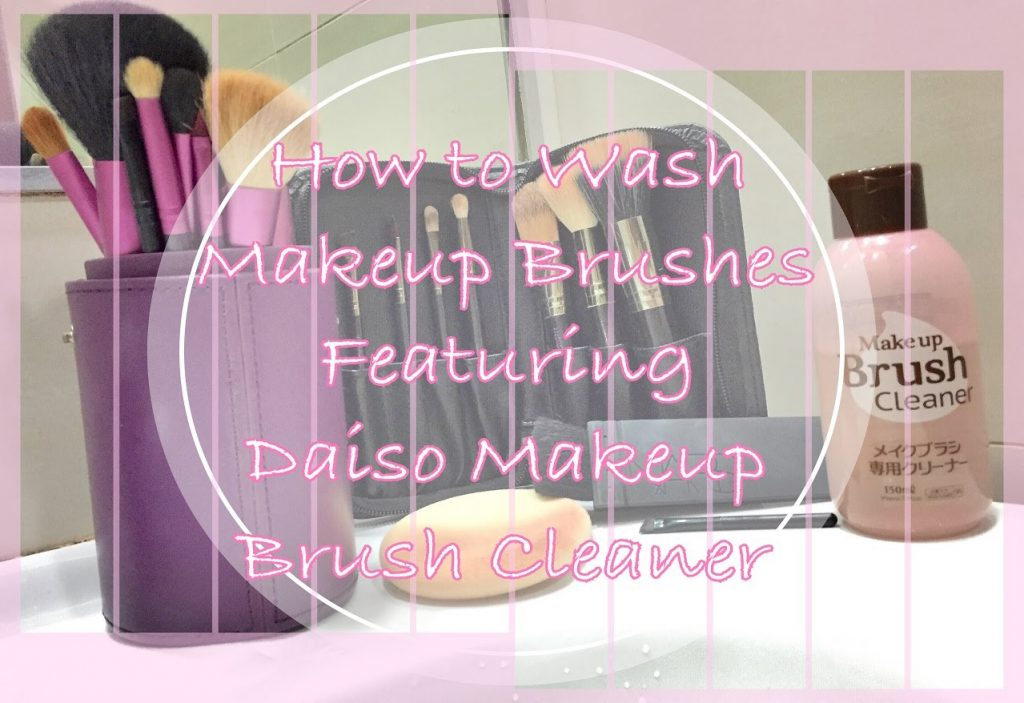 How to Wash Makeup Brushes ft Daiso Makeup Brush Cleaner | IkinMan