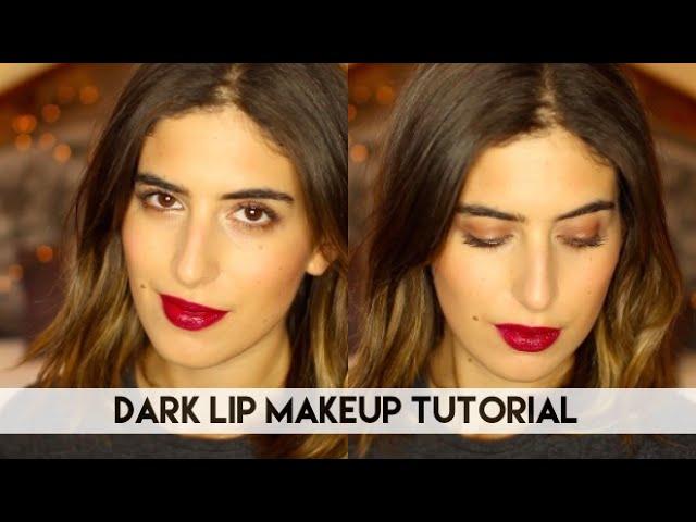 Dark Lip Makeup Tutorial // Lily Pebbles