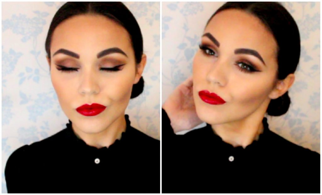 Spanish Inspired Makeup Tutorial! Tanned Skin + Bold Red Lip!
