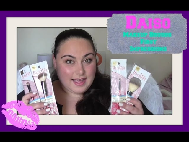 Daiso Makeup Brushes First Impressions
