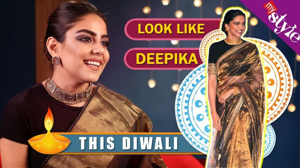 Get Ready Like Deepika Padukone This Diwali | Makeup, Hairstyle & Outfit Tutorial