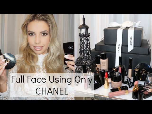 Full Face Using Only CHANEL Makeup | Review First Impression Demo Tutorial