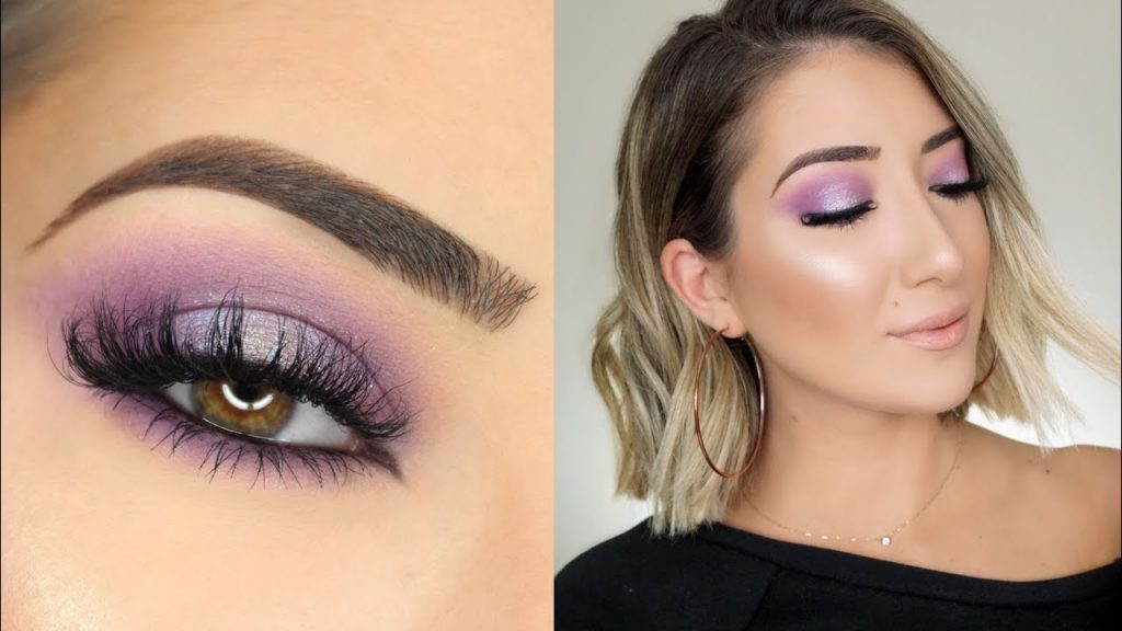 Bright Purple Halo Smokey Eye Makeup Tutorial
