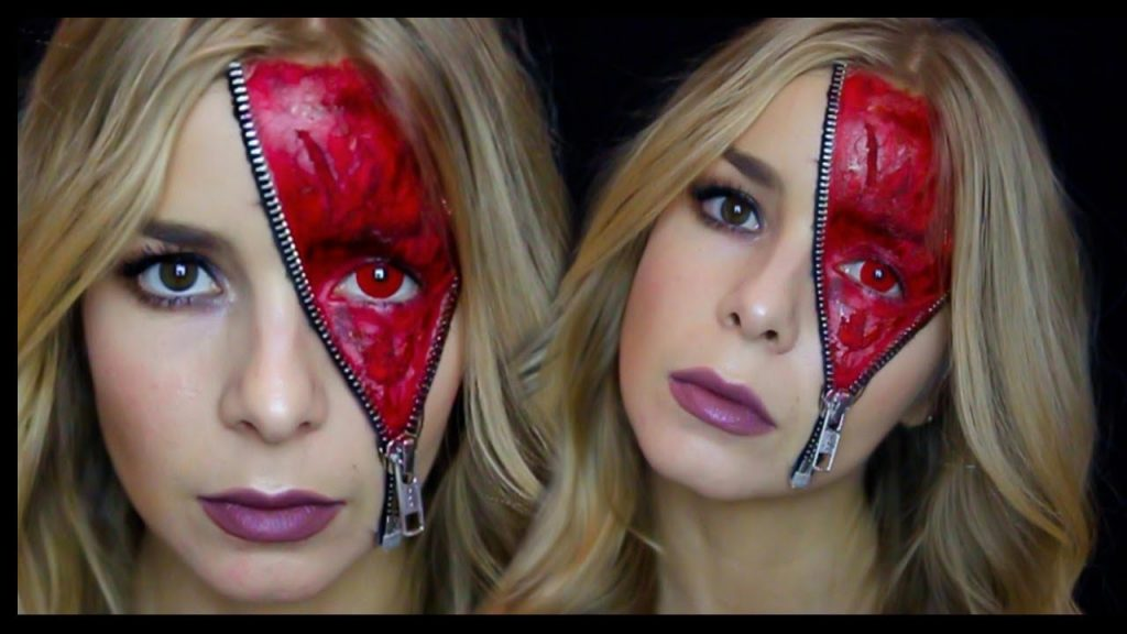 HALLOWEEN 2017 #1 Zipper Face Demon Makeup Tutorial | Alice Trewinnard