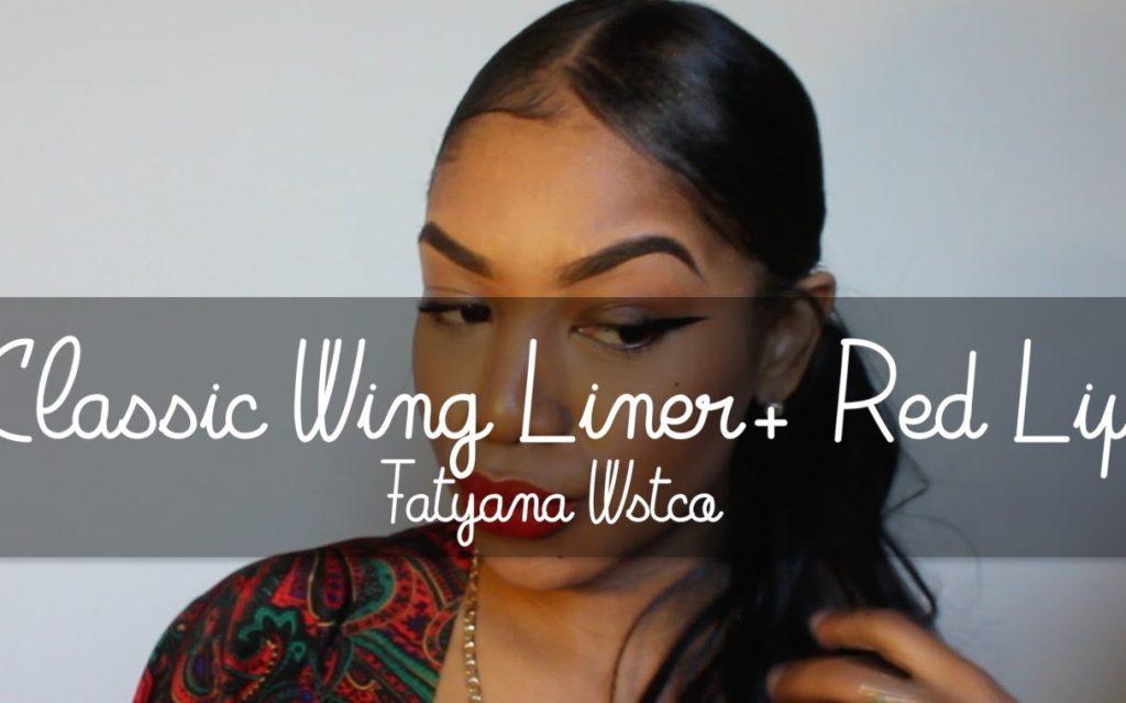 Classic Red Lip &Wing Liner Makeup Tutorial
