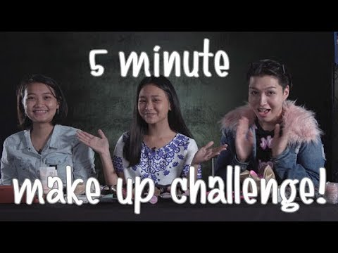 5 MINUTE MAKEUP CHALLENGE! with About Raf and Mae Layug!