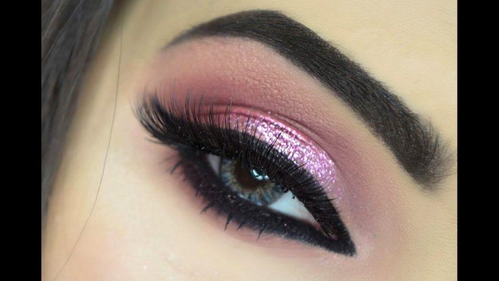 Pink Glitter Eye Makeup| Holiday Makeup| MakeupByAzmeree
