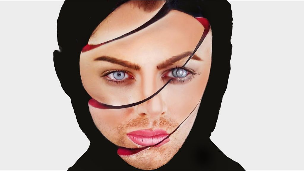 OPTICAL ILLUSION WITH MAKEUP – SHIFTED FACE – HALLOWEEN