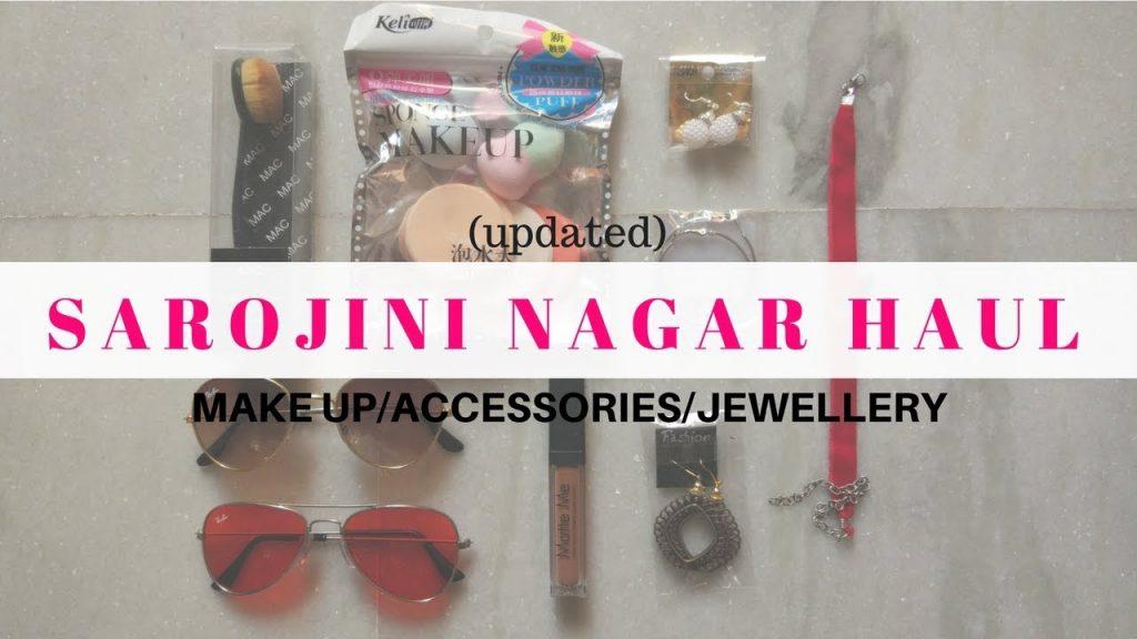 Sarojini Nagar Make up,Accessories,Jewellery Haul 2017|| ₹10/- Earrings, ₹50/-Makeup ||EKTA NIGAM