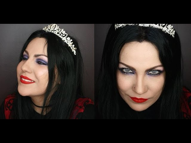 Amy Lee – purple shadow,  red lip makeup tutorial