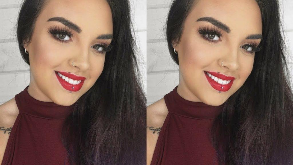 Classic Red Lip Makeup Tutorial | Rachel Lamy