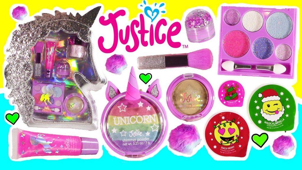 JUSTICE Haul! Magical Unicorn Makeup Kit! Emoji Cream! Glitter Globe Lip Balm! Bath Bomb Popsicle!