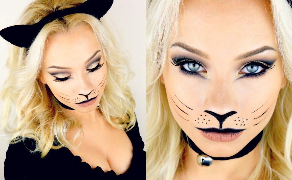 Last Minute Halloween Kitty Cat Makeup Tutorial 2015