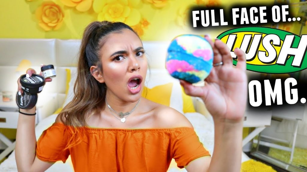 FULL FACE USING ONLY LUSH COSMETICS! (All Natural & Cruelty Free Makeup Tutorial)