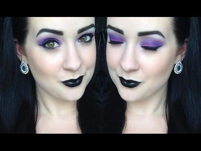 Goth Queen Purple Eye & Black Lip Makeup Tutorial + First Impression