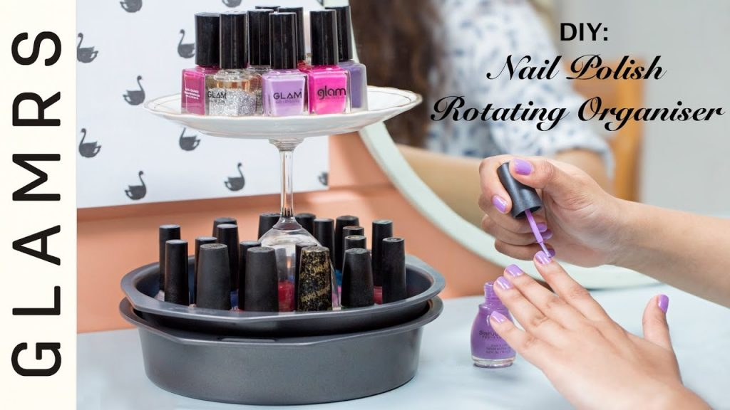 DIY Rotating Desk Organizer – Easy to Make | Kitchen Accessories, Nailpolish DIY Stand | Glamrs