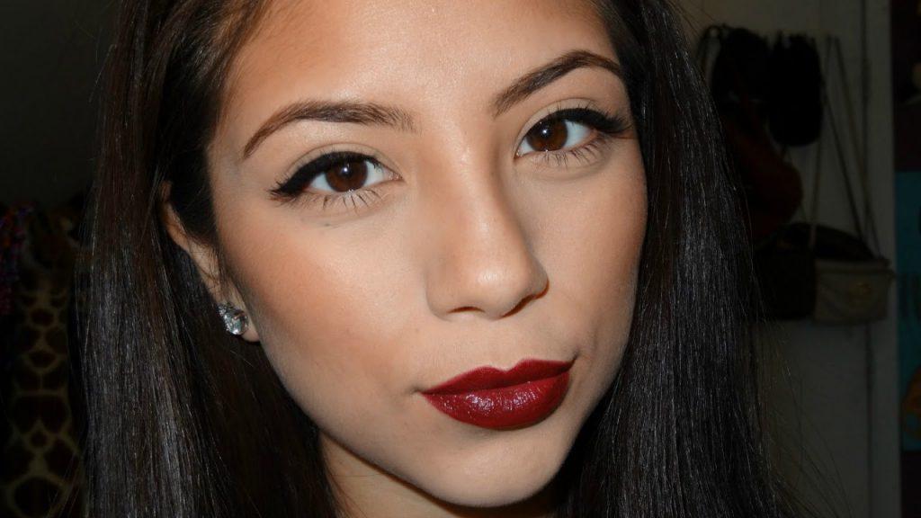Everyday Fall Look | Simple Eyes Bold Lip Makeup Tutorial