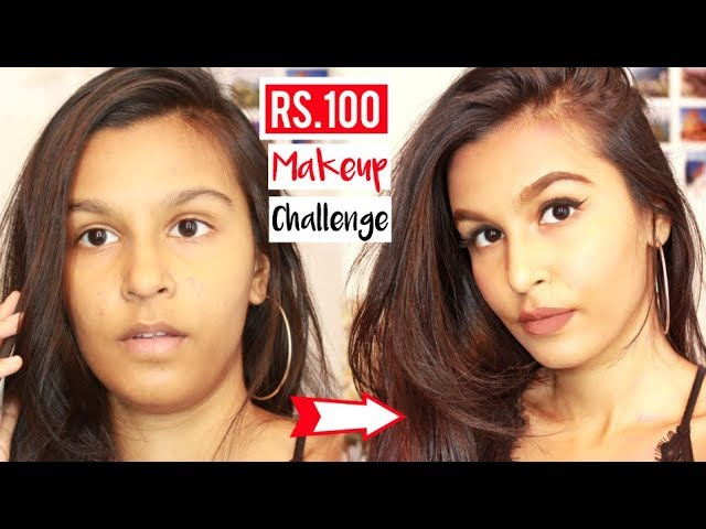 Full Face of Makeup Using Products Under Rs.100 Challenge | Mridul Sharma | Mridul Sharma