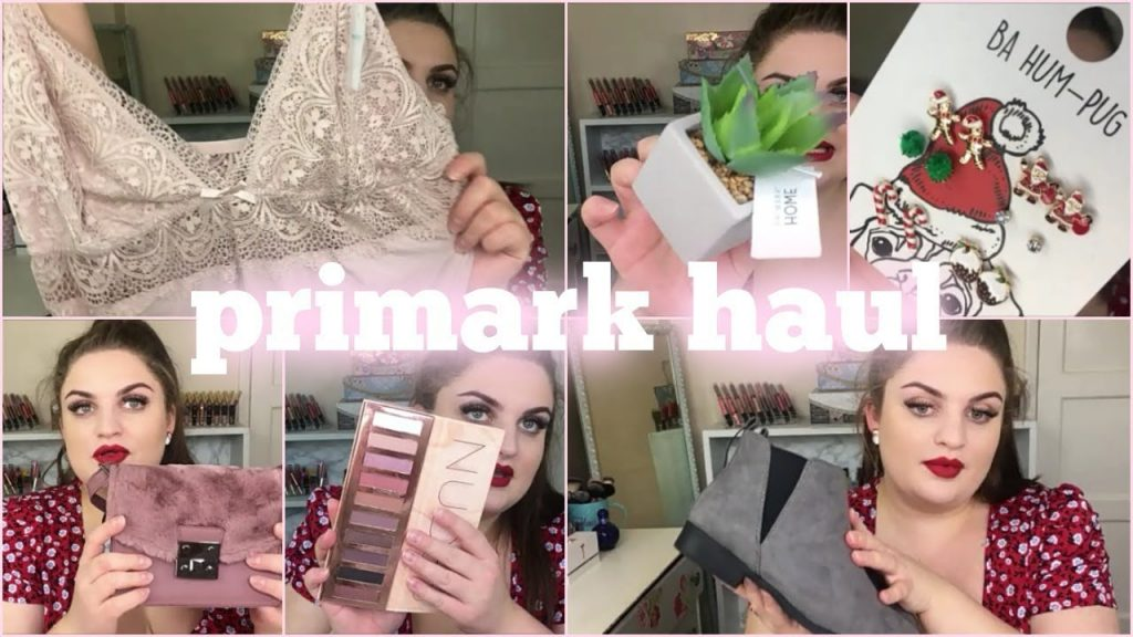PRIMARK HAUL NOVEMBER 2017 | LINGERIE ACCESSORIES MAKEUP +more | Rhoda Secker
