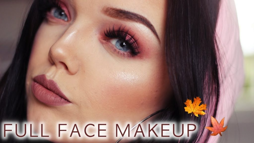 RED FALL FULL FACE MAKEUP | Erika