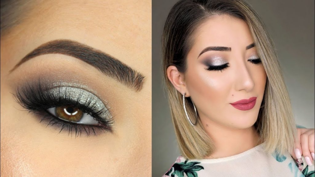 Black and Silver Smokey Eye Makeup Tutorial | Huda Beauty Smokey Obsessions