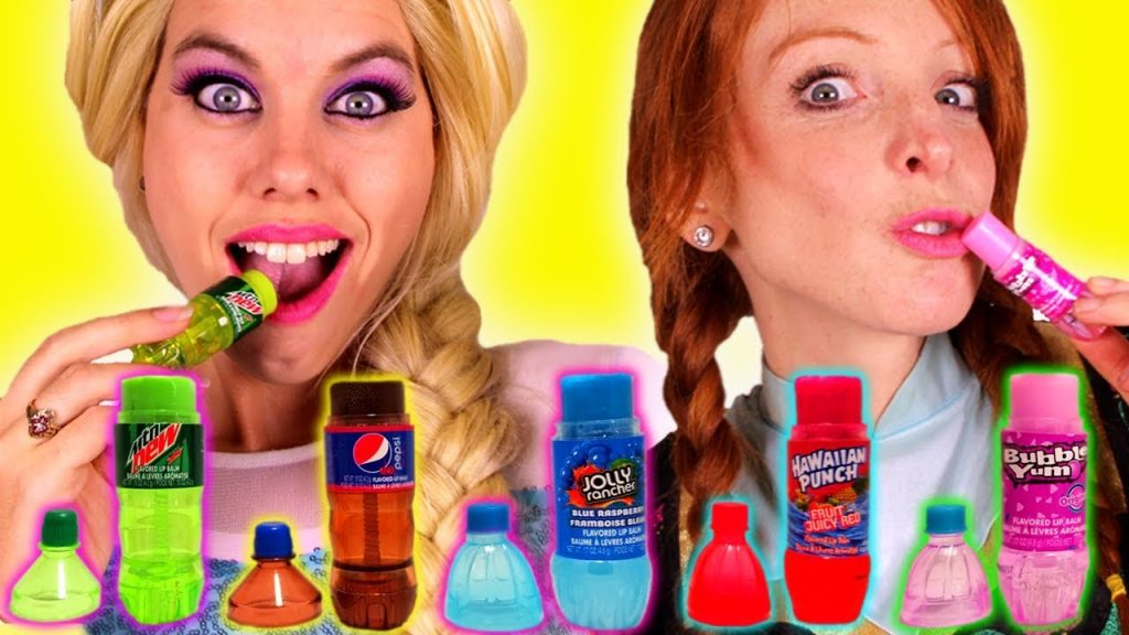 SODA LIP BALM! Bad Kids Family Fun Nursery Rhymes for Children & Babies Color Makeup Dresses & Candy