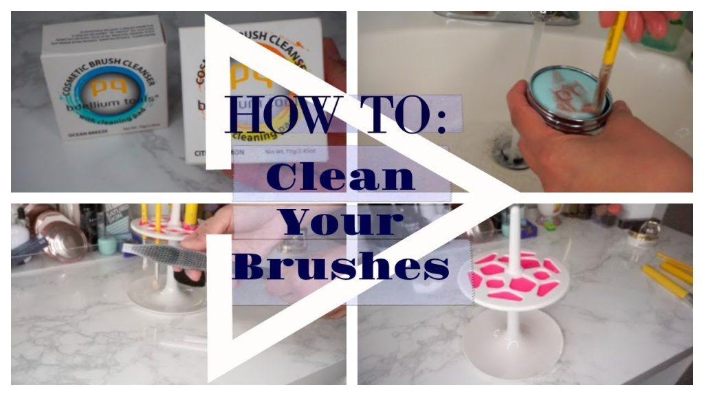 How To: Wash & Dry Your Makeup Brushes